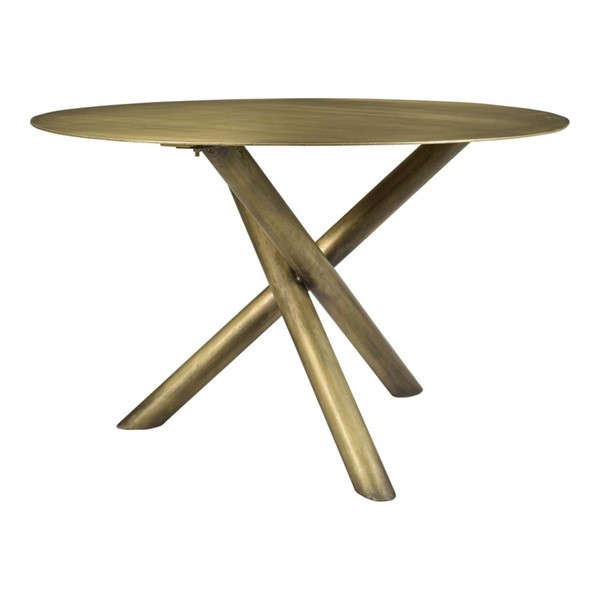 Moes Home Sonoma Brass Round Dining Table MOE-QJ-1003-43