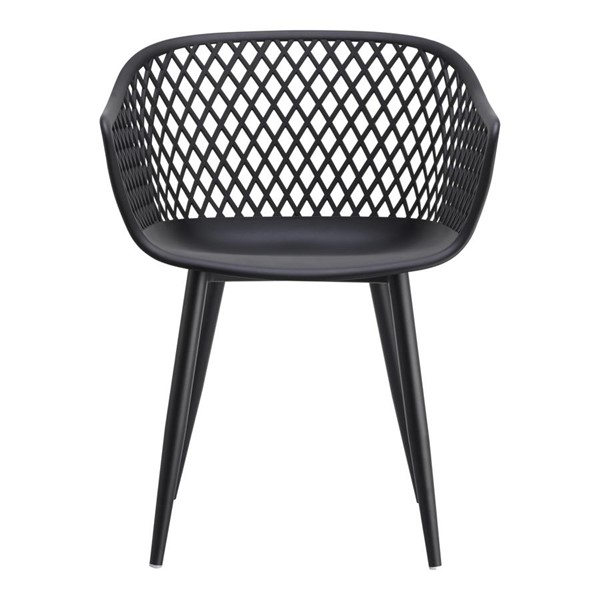 2 Moes Home Piazza Modern Black Outdoor Chairs MOE-QX-1001-02