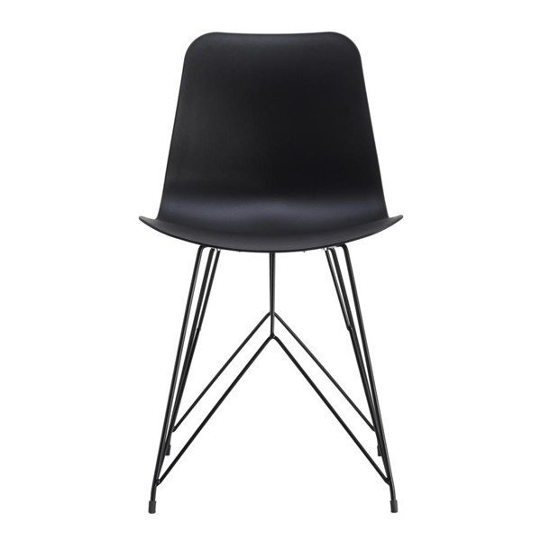 2 Moes Home Esterno Modern Black Outdoor Chairs MOE-QX-1002-02