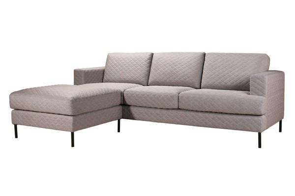 Moes Home Galiano Light Grey Sofa And Ottoman MOE-RN-1083-29