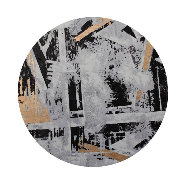 Moes Home Abstract City Round Wall Decor MOE-RX-1021-37