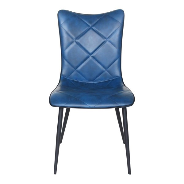 2 Moes Home Josie Navy Blue Modern  Dining Chairs MOE-UU-1008-46