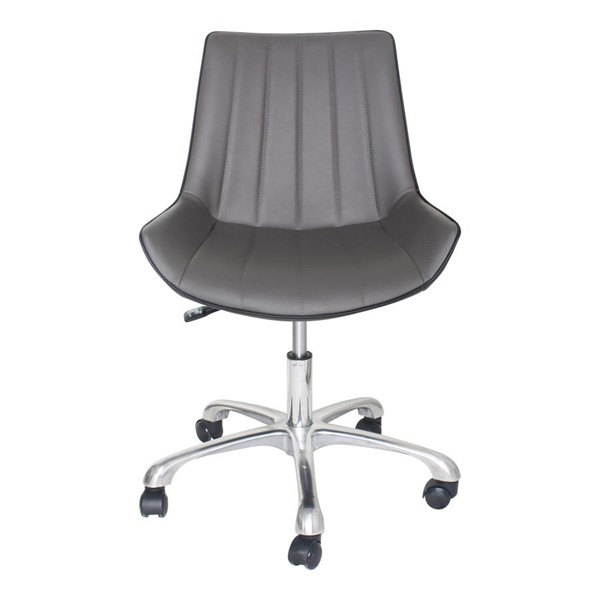 Moes Home Mack Gunmetal Adjustable Height Office Chair MOE-UU-1010-41