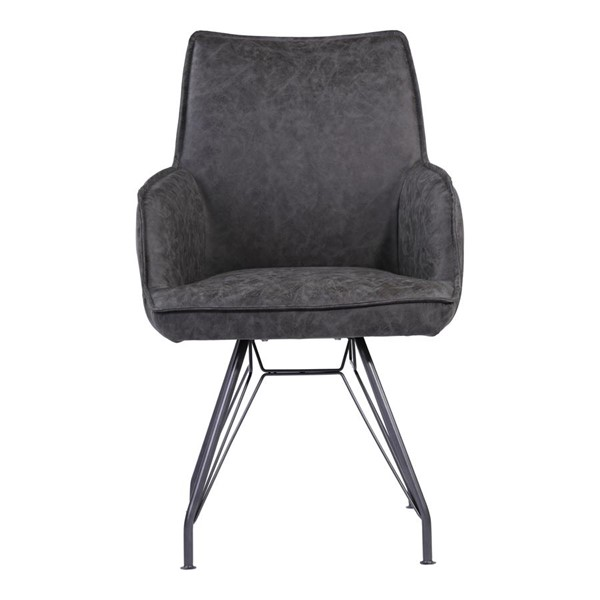 Moes Home Wilson Charcoal Grey Modern Arm Chair MOE-UY-1011-07