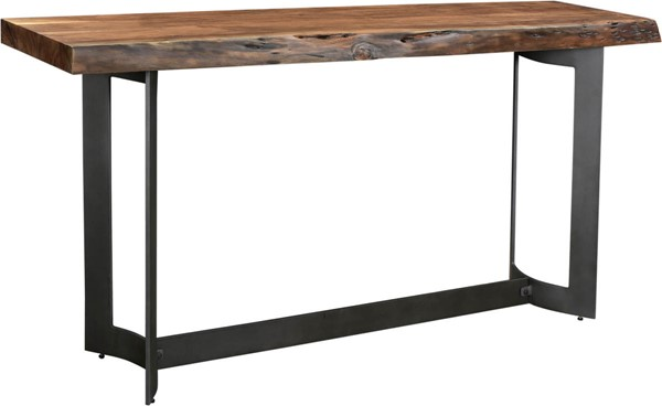 Moes Home Bent Brown Rectangle Console Table MOE-VE-1041-03