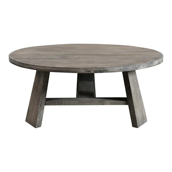 Moes Home Jax Grey Solid Wood Round 3pc Coffee Table Set MOE-VE-105-OCT-S1