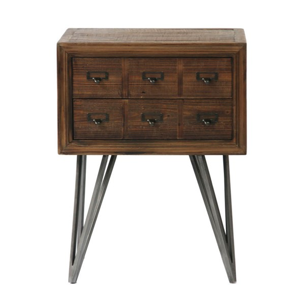 Moes Home Javadi Dark Brown Side Table MOE-VL-1003-20