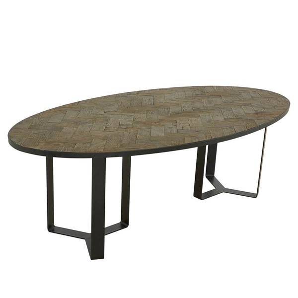 Castle Designs Heritage Cappuccino Oval Dining Table CTL-VL-1033-14