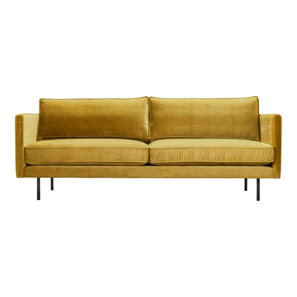 Moes Home Raphael Yellow Mustard Fabric Sofa MOE-WB-1002-09