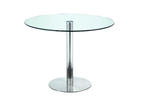Castle Designs Lucent Clear Round Cafe Table CTL-WG-1004-17
