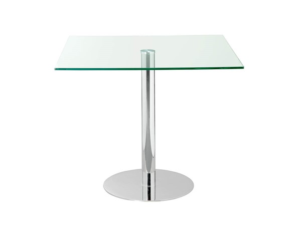 Castle Designs Lucent Clear Square Cafe Table CTL-WG-1005-17