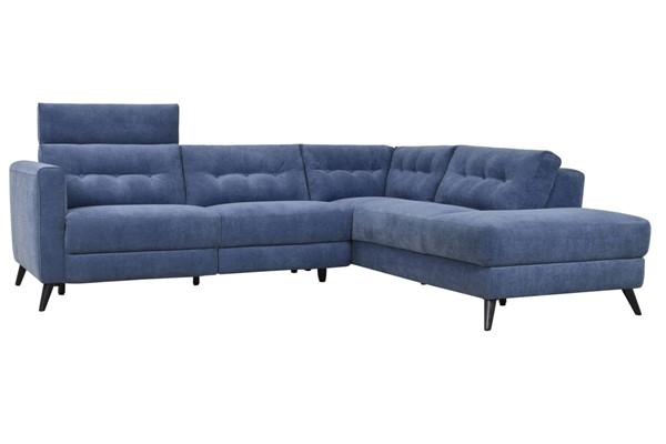 Moes Home Beaumont Navy Blue Right Power Sectional MOE-WH-1017-46-R