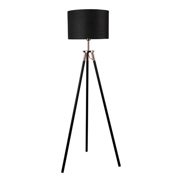 Moes Home Broadway Black Round Shade Floor Lamp MOE-WK-1009-02