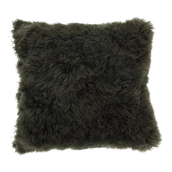 Moes Home Green Cashmere Fur Square Pillow MOE-XU-1015-16