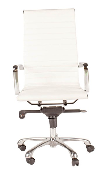 Moes Home Omega White High Back Office Chair MOE-ZM-1001-18