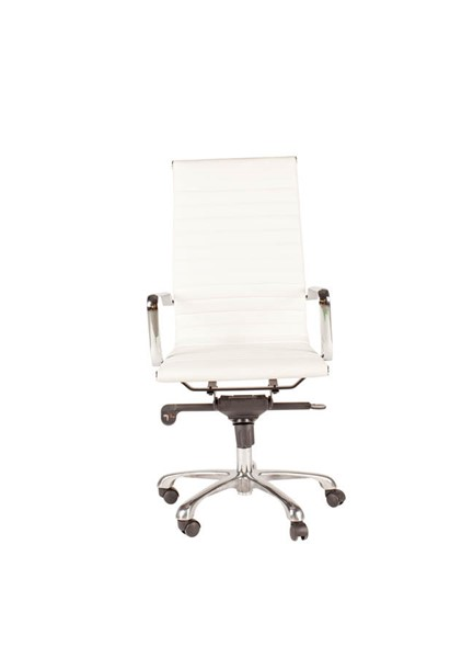 2 Moes Home Omega White High Back Office Chairs MOE-ZM-1001-18