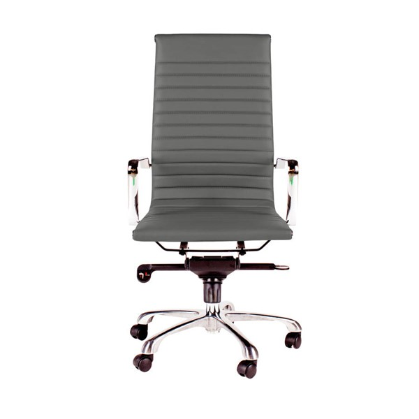 Moes Home Omega Grey High Back Office Chair MOE-ZM-1001-29