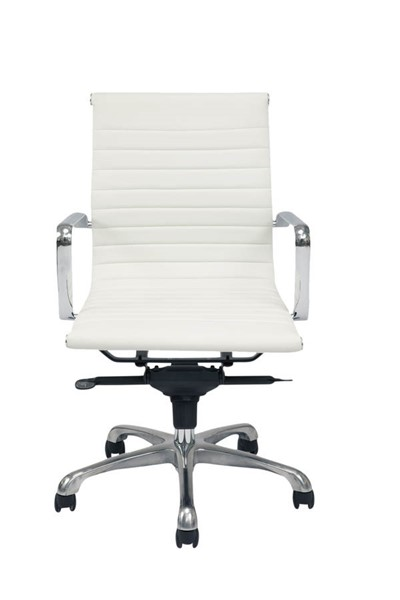 2 Moes Home Omega White Office Chairs MOE-ZM-1002-18
