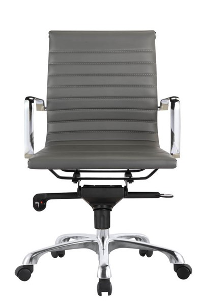 Moes Home Omega Grey Low Back Office Chair MOE-ZM-1002-29