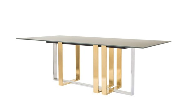 Curations Berlin Matt Gold Dining Table CUR-1000-0003