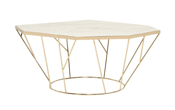Curations Barry Gold Coffee Table CUR-1001-101