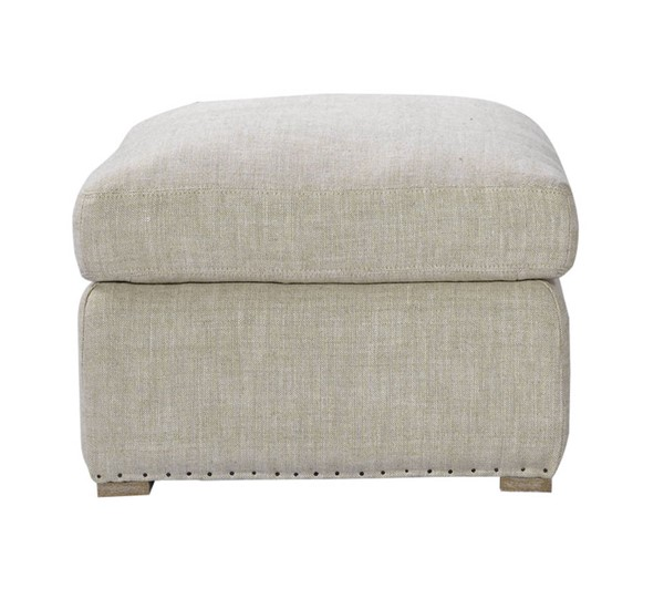 Curations Winslow Beige Fabric Ottoman CUR-7801-1112-A015