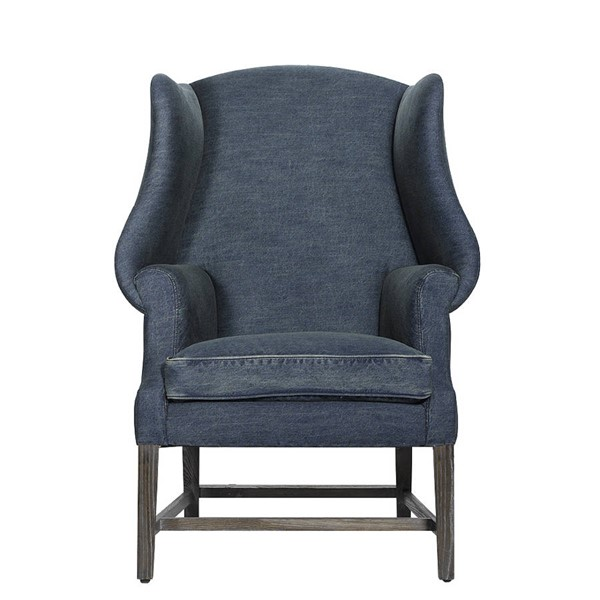 Curations New Age Denim Chair CUR-7841-0002