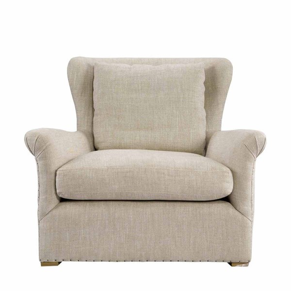 Curations Winslow Beige Fabric Lounge Chair CUR-7841-1003-A015