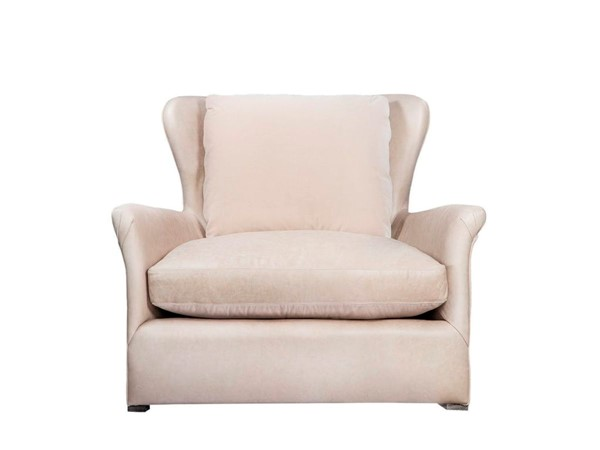 Curations Winslow Beige Leather Lounge Chair CUR-7841-3109