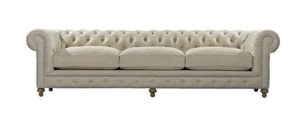 Curations Cigar Beige 118 Inch Club Sofa CUR-7842-0004-A015