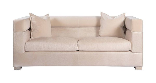 Curations Modena Beige Leather Sofa CUR-7842-0041