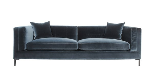 Curation Dona Blue Velvet Sofa CUR-7842-3010
