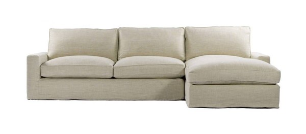 Curations Mons Beige Upholstered RAF Sectional CUR-7843-0001-RAF