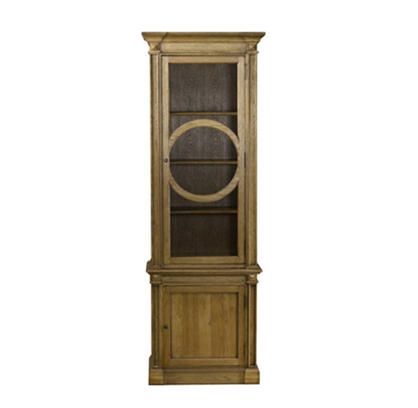 Curations French O Style Weathered Oak Cabinet CUR-8810-0006-E272
