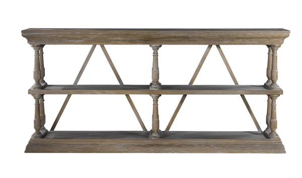 Curations Weathered Oak Cross Console CUR-8810-1115