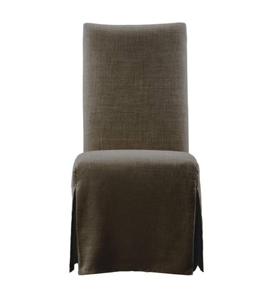 2 Curations Flandia Brown Slip Skirt Chairs CUR-8826-1003-A008