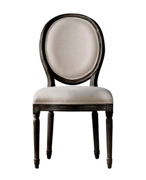2 Curations French Vintage Louis Beige Side Chairs CUR-8827-0004