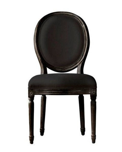 2 Curations French Vintage Louis Black Side Chairs CUR-8827-0005