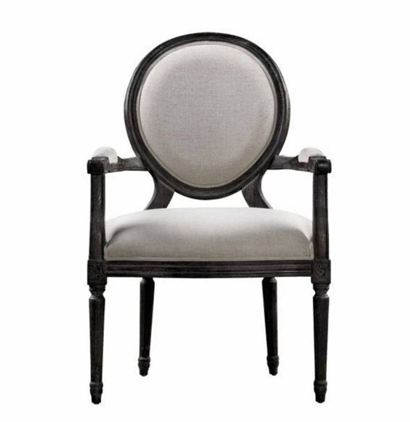 Curations French Vintage Louis Beige Arm Chair CUR-8827-0007