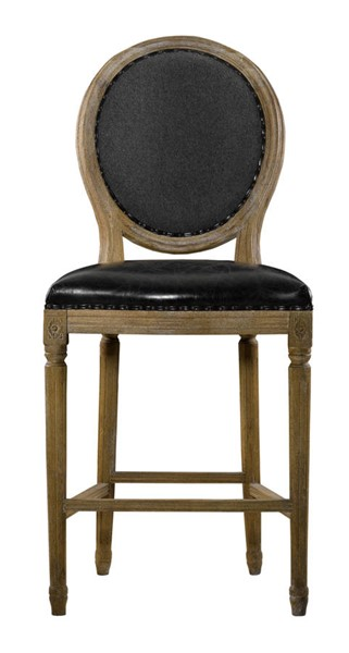 Curations French Vintage Louis Black Counter Stool CUR-8828-3001