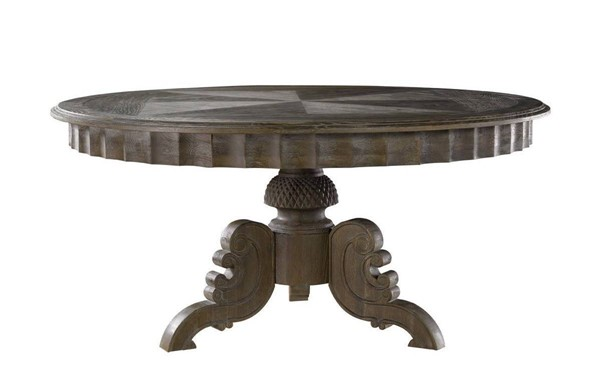 Curations French Gray 63 Inch Round Table CUR-8831-0001-L-E628