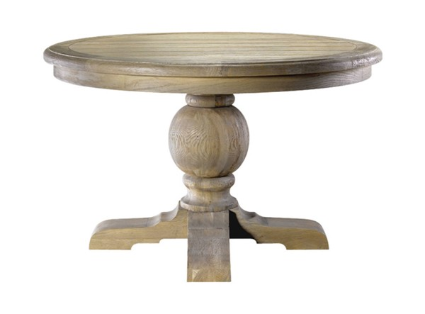 Curations Weathered Oak 60 Inch Round Trestle Table CUR-8831-1001-L