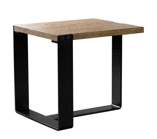 Curations Bern Weathered Oak Side Table CUR-8833-1020