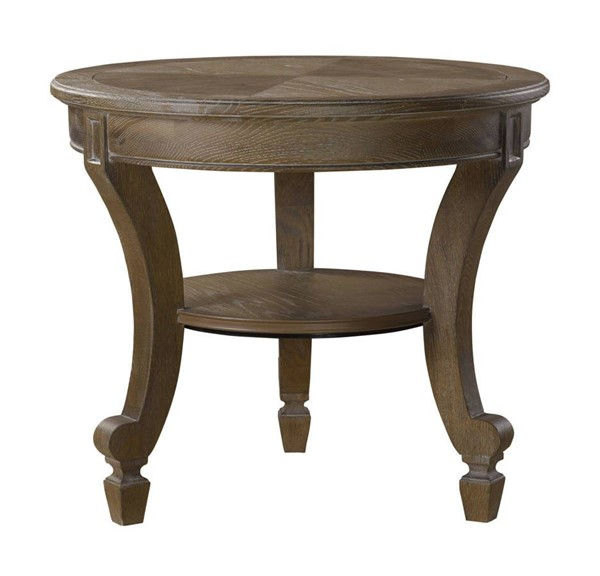 Curations Linden Weathered Oak Side Table CUR-8833-1131