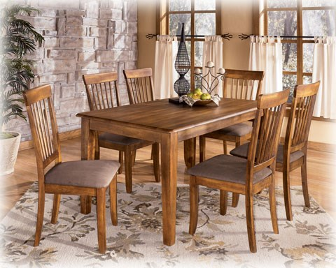 Berringer Traditional Burnished Dark Brown Wood Dinette Set D199