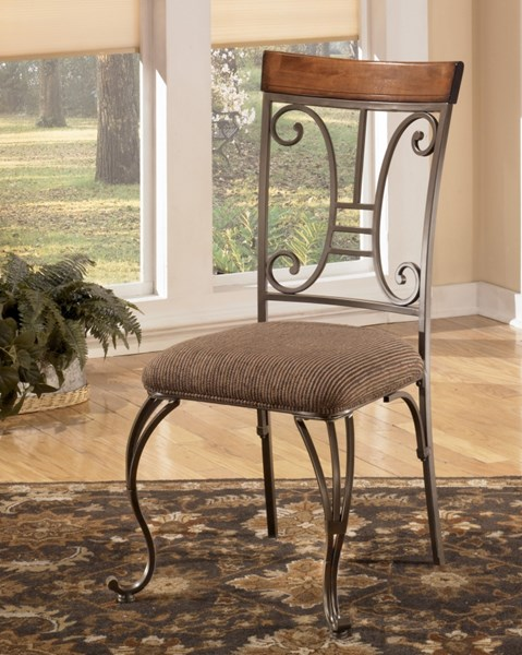 4 Plentywood Traditional Brown Fabric Dining Upholstered Side Chairs D313-01