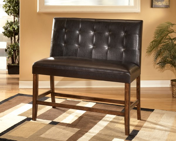 2 Lacey Contemporary Brown Wood PVC Double Upholstered Barstools D328-323