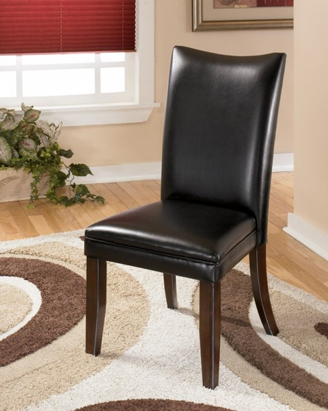 Charrell Casual Faux Leather Wood Dining Upholstered Side Chairs D357-DC-VAR