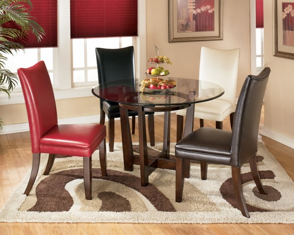 Charrell Casual Glass Glass Wood Dining Room Table D357-15