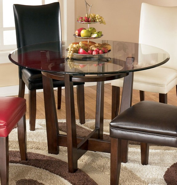 Ashley Furniture Discontinued: Ashley Furniture Charrell Glass Dining Room Table